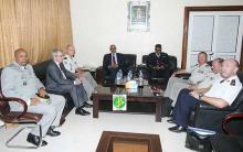 جانب من المباحثات الموريتانية الفرنسية (وم أ)