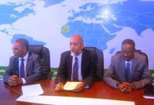 جانب من المؤتمر الصحفي للحكومة الموريتانية عقب اجتماع مجلس الورراء الخميس 02 يوليو 2015 (السراج)