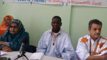 جانب من افتتاح النشاط الطوعي الذي نظمه نادي الجمعيات الشبابية والثقافية بمدينة نواذيبو (السراج)