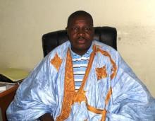 رئيس الكونفدرالية الحرة لعمال موريتانيا الساموري ولد بي (أرشيف)