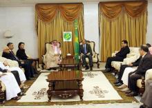 لقاء بين مجلس إدارةالمصرف العربي للتنمية الاقتصادية ورئيس موريتانيا محمد ولد عبد العزيز (وم أ)