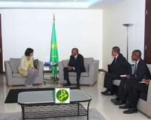 جانب من لقاء سابق للوزير الأول بموريتانيا برئيسة بعثة صندوق النقد الدولي (أرشيف ـ وم ا)