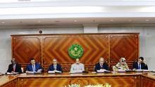 مجلس الوزار الموريتاني بالقصر الرئاسي في نواكشوط