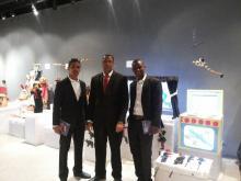 مجموعة الوفد الموريتاني المشارك في فعاليات وورشات الملتقى العربي الثالث لفنون الدمى وخيال الظل في القاهرة (السراج)