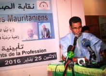 جانب من الأمسية التأبينية التي نظمتها نقابة الصحفيين الموريتانيين مساء الاثنين 25 يناير 2016 (وم أ)