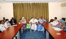 جانب من اجتماع لجنة الخارجية بمجلس الشيوخ الموريتاني لدراسة مشروعي قانونين (وم أ)