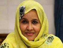 وزيرة الشؤون الاجتماعية لمينة بنت أمم (السراج)
