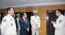 قادة قطاع الدرك مع الرئيس الموريتاني