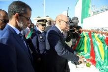 الرئيس والوزير الأول خلال تدشين المقر الجديد للبرلمان
