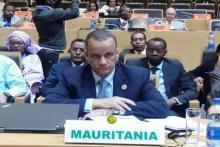 وزير الشؤون الخارجية والتعاون اسماعيل ولد الشيخ أحمد خلال مشاركته في اجتماع المجلس التنفيذي للاتحاد الإفريقي.