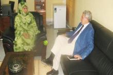 وزيرة التهذيب الوطني والتكوين المهني الناها بنت مكناس والسفير الإسباني خيسوس سانتوس أكوادو.