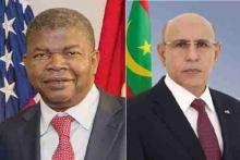 الرئيس الموريتاني محمد ولد الشيخ الغزواني ونظيره الأنغولي جواو لورينسو