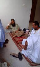الإمام من داخل إحدى مفوضيات الشرطة بعد اعتقاله