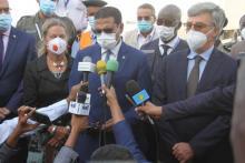 وزير الصحة محمد نذير حامد في تصريح على هامش تسلم دفعة اللقاح