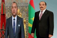 الرئيس الموريتاني محمد ولد عبد العزيز والعاهل المغربي محمد السادس.