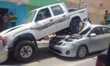 سيارة هيلكس لم تكن محمولة لكنه صعدت بهذه الطريقة
