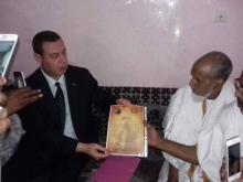 السفير الفلسطيني يقدم العزاء لوالد الراحل