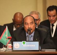 الرئيس الموريتاني خلال مشاركته فى قمة اسطنبول