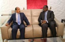 الرئيسان السنغالي ماكي صال والموريتاني محمد ولد عبد العزيز.