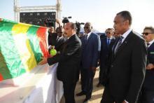 الرئيس الموريتاني يشرف على انطلاق أشغال شبكة الألياف البصرية للاتصالات بنواكشوط.