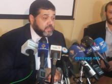 أسامه حمدان خلال المؤتمر الصحفي