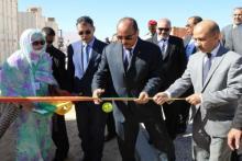 الرئيس محمد ولد عبد العزيز لدى تدشينه محطة لتحلية المياه بنواذيبو.