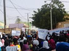 صورة من المسيرة صباح اليوم