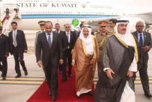 الصورة من وصول الوفد الكويتي المطار (و م أ)