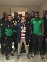 النائب مع الفريق فى المغرب