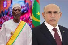 الرئيس الموريتاني محمد ولد الشيخ الغزواني والرئيس الانتقالي في مالي باه نداو
