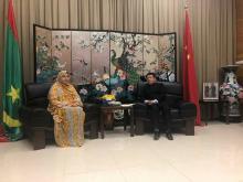 الأمينة العامة مع السفير الصيني