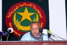 رئيس الجمعية الوطينة الشيخ ولد بايه خلال اختتام الدورة البرلمانية.