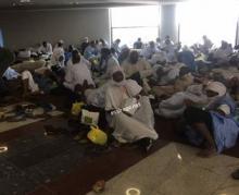 فى قاعة الانتظار بمطار نواكشوط زوال اليوم