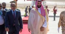 ولي العهد السعودي محمد بن سلمان والرئيس الموريتاني محمد ولد عبد العزيز.