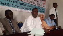 رئيس الحركة خلال المؤتمر الصحفي