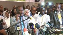 بيرام الداه اعبيد لدى إعلانه الترشح للرئاسة في 25 مارس 2019