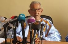 الرئيس ولد داداه خلال مؤتمره الصحفي اليوم