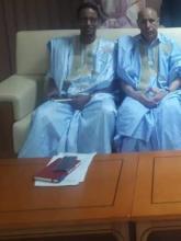 الدكتور عبد الله سعيد والرئيس محمد ولد الشيخ الغزواني