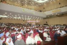 صورة من الحضور داخل القاعة الرئيسية