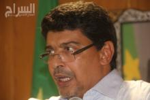 رئيس الحزب الحاكم خلال مؤتمر الصحفي أمس