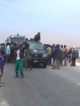 صورة من إضراب عمال وحمالي ميناء نواكشوط (أرشيف)