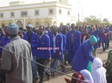 جانب من مسيرات العمال في مدينة ازويرات (السراج - أرشيف)