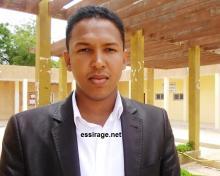 الأمين العام للاتحاد الوطني لطلبة موريتانيا الحسن ولد بدو (أرشيف - السراج)