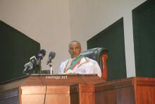 رئيس الجمعية الوطنية الشيخ ولد بايه خلال جلسة اليوم