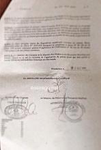 صورة من الوثيقة التي وقعها الوزير