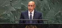 غزواني خلال كلمة له امام الجمعية العمومية للامم المتحدة 2019
