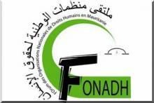 """شعار ملتقى المنظمات الوطنية لحقوق الإنسان """"فوناد"""""""