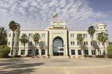 واجهة القصر الرئاسي في العاصمة نواكشوط.