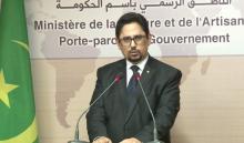 ولد الشيخ خلال المؤتمر الصحفى اليوم
