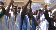 صورة من وقفة حملة الشهادات